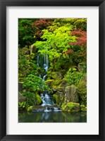 Framed Heavenly Falls, Portland Japanese Garden, Oregon