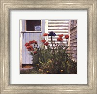 Framed Poppies and Iris