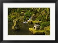 Framed Portland Japanese Garden Pond, Oregon