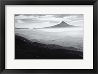 Framed Smoke In The Hood River Valley, Oregon (BW)