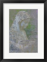 Framed Pastel Abstract Statue Of The Madonna