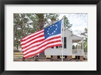 Framed Betsy Ross Flag At The Craven House In Historic Camden, South Carolina