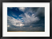 Framed Massive Summer Cloud Formations Over Wheat Fields