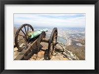 Framed Cannon Perched On Lookout Mountain, Tennessee