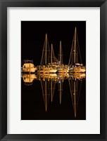 Framed Pleasure Boats In Fulton Harbor