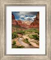 Framed View Along The Virgin River Or Zion National Park