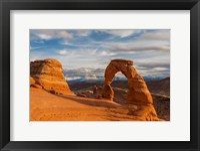Framed Delicate Arch At Sunsetm Utah
