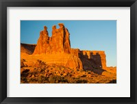 Framed Three Gossips Formation At Sunrise, Arches National Park