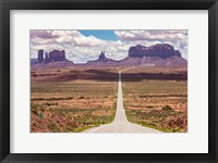 Framed Road Through Monument Valley