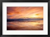 Framed Sunset Over The Great Salt Lake, Utah
