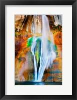 Framed Lower Calf Creek Falls, Utah