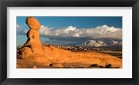Framed Sunset On A Balanced Rock Monolith, Arches National Park