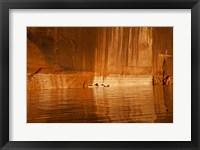 Framed Glen Canyon National Recreation Area Tapestry Wall, Utah