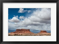 Framed Mesas And Thunderclouds Over The Colorado Plateau, Utah