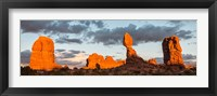 Framed Arches National Park Balanced Rock Panorama, Utah