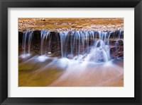 Framed Cascade Along The Left Fork Of North Creek, Zion National Park, Utah