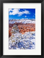 Framed Fresh Powder On Rock Formations In The Silent City, Utah