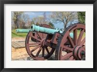 Framed Cannon On Battlefield, Yorktown, Virginia