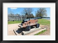Framed Jamestown Island Cannonm Virginia