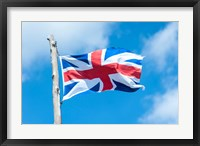 Framed British Flag, Jamestown, Virignia