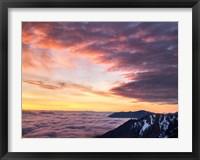 Framed Dawn On Hurricane Ridge Road, Washington
