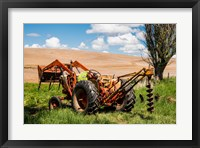 Framed Tractor Used For Fence Building, Washington