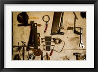 Framed Collection Of Farm Tools