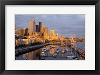 Framed Seattle Skyline From Pier 66, Washington