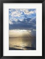 Framed God Rays Over Hood Canal, Washington State