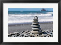 Framed Stacked Beach Rocks, Washington State