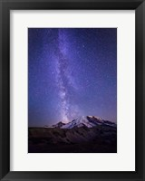 Framed Stars And The Milky Way Above Mt Rainier And Burroughs Mountain