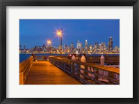 Framed Seacrest Park Fishing Pier, With Skyline View Of West Seattle