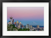 Framed Skyline View Of Seattle With Mount Rainier