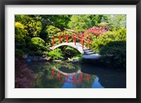 Framed Moon Bridge In The Kubota Gardensm Washington State