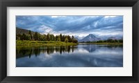 Framed Oxbow Bend Of The Snake River, Panorama, Wyoming