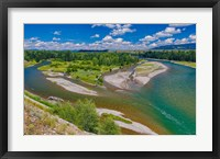 Framed Snake River Flowing Through Jackson Hole In Grand Teton National Park