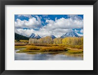 Framed Grand Teton National Park Panorama, Wyoming
