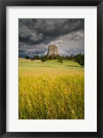 Framed Approaching Thunderstorm At The Devil's Tower National Monument