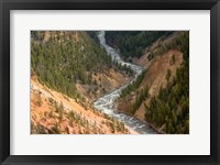 Framed Inspiration Point, Yellowstone River, Grand Canyon Of The Yellowstone