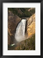Framed Lower Falls Of The Yellowstone, Lookout Point, Wyoming