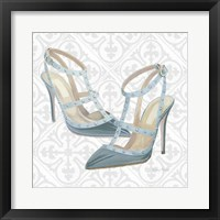 Must Have Fashion II Gray White Framed Print