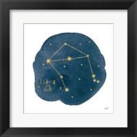 Framed Horoscope Libra