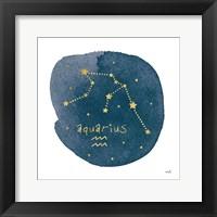 Framed Horoscope Aquarius