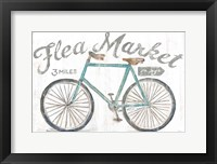 Framed White Barn Flea Market I