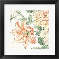 Framed Cottage Roses VII