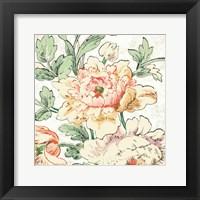Framed Cottage Roses VI