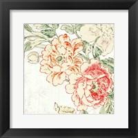 Framed Cottage Roses V
