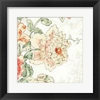 Framed Cottage Roses IV