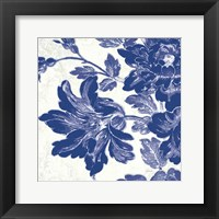 Framed Toile Roses VII