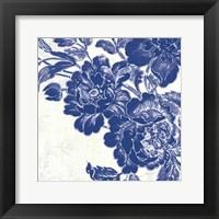 Framed Toile Roses V